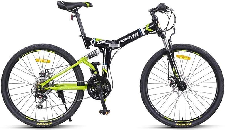 Bicicletas 24 Pulgadas montaña Adulto Plegable 24 Hombres y Mujeres de Velocidad Plegable del Coche de Carreras Profesional (Color : Gray, Size : 24inches): Amazon.es: Hogar