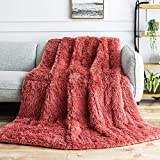 BUZIO Faux Fur Weighted Blanket 15lbs, Super Soft