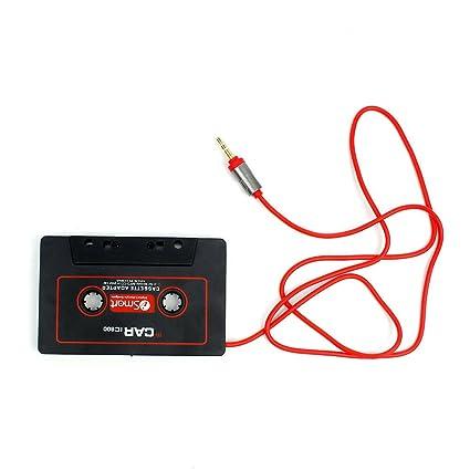 Interesting® Cassette adaptador de coche cinta estéreo para iPod iPhone MP3 AUX CD Player 3