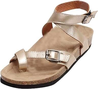 Darringls_Sandalias de Verano Mujer,Sandalia calados Peep Toe Mujer Zapato Fondo Plano Cinturon de Tacon Botines Zapatos de Playa Tacon bajo: Amazon.es: Ropa y accesorios