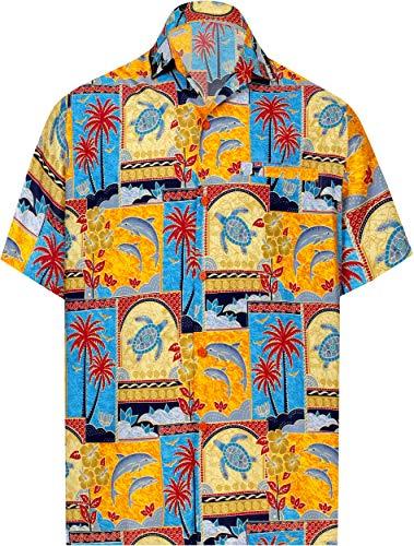 (LA LEELA Likre Soft Silk Printed Shirt Matching_4 2XL |Chest 54