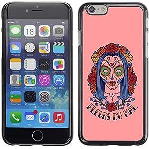 PC/Aluminum Funda Carcasa protectora para Apple Iphone 6 Plus 5.5 Fleur Du Mal - Woman Sugar Skull / JUSTGO PHONE PROTECTOR