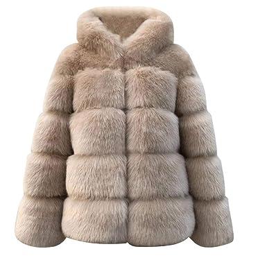 Chaquetas de visón para Mujer Abrigo de Invierno Nueva Chaqueta de Piel sintética Chaqueta de Abrigo Gruesa y cálida: Amazon.es: Ropa y accesorios