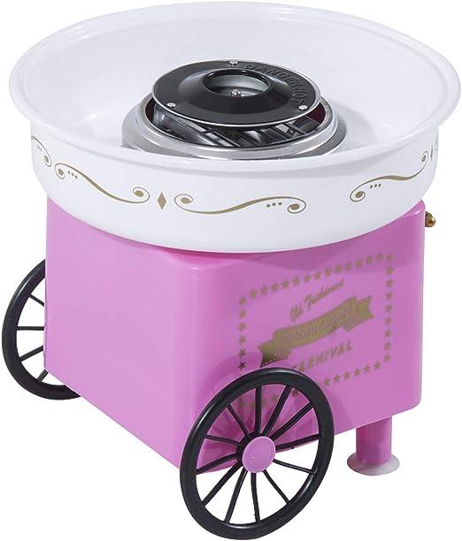 Máquina de algodón de azúcar profesional con mueble, 30 x 30 x 28 cm, color rosa: Amazon.es