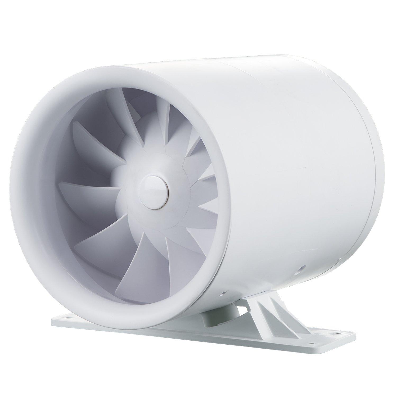 Ducto 100 T 7.5 wattsW bianco 240 voltsV Blauberg UK Ducto 100/T 100/mm Ducto in line Duct montato aspiratore con timer integrato colore: Bianco brillante