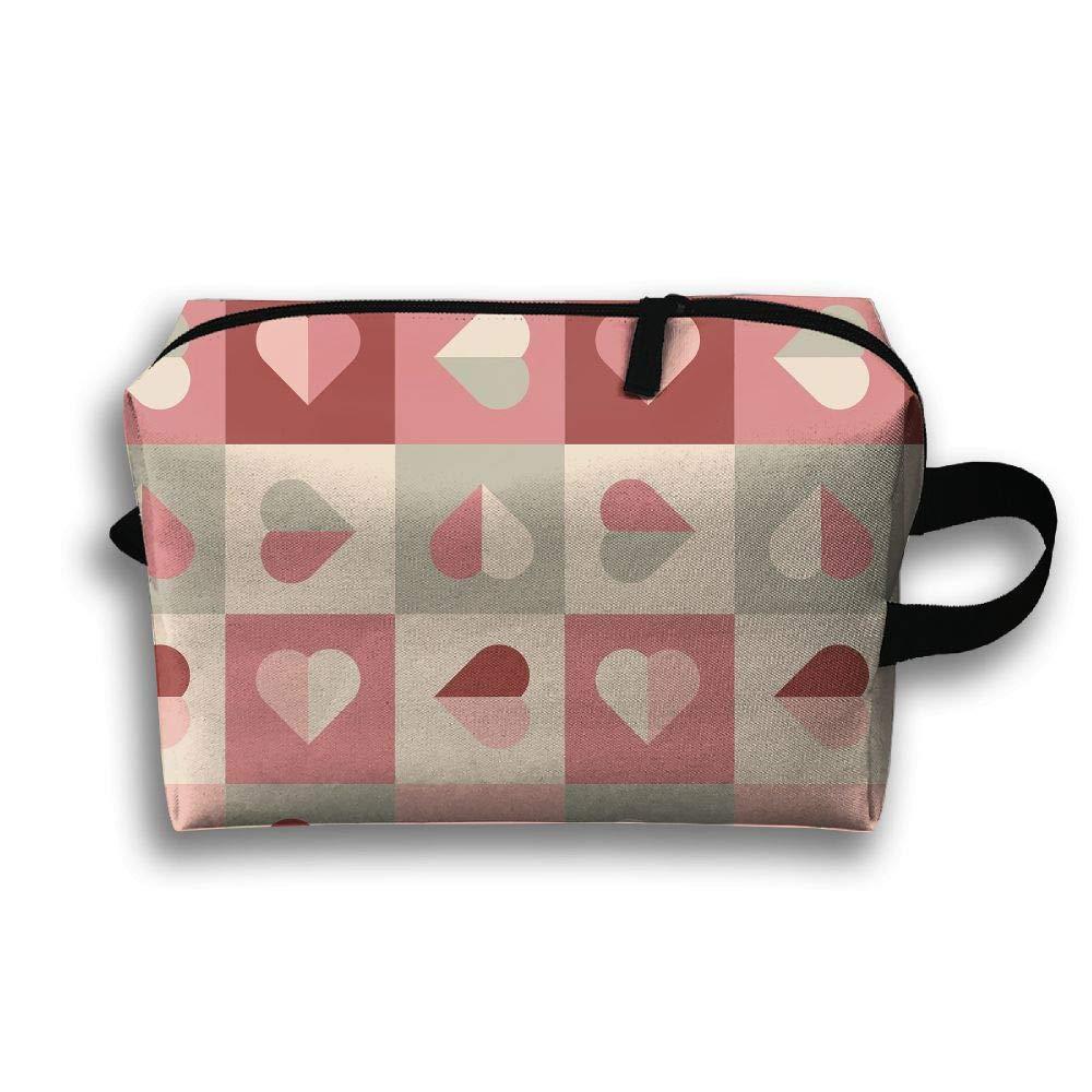 Love Heart Picture Cosmetic Bags Makeup Organizer Bag Pouch Zipper Purse Handbag Clutch Bag