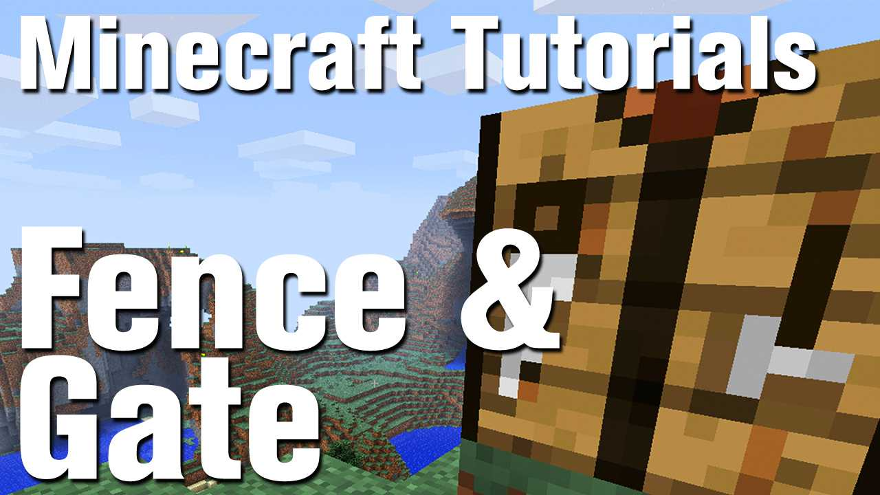 Minecraft Tutorial How To Make A Fence And Fence Gate In Minecraft