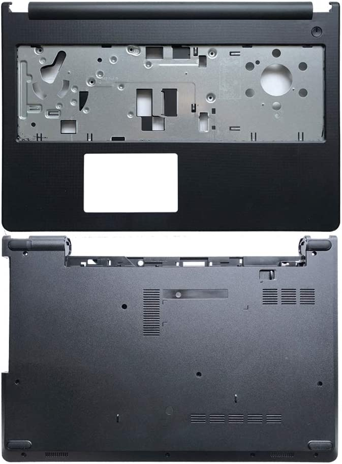 Laptop Replacement Parts Fit Dell Inspiron 15-3558 15-3559 15-3552 (Palmrest Upper Case Cover+Bottom Base Cover Case)