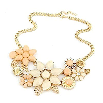 HuntGold Women Lady Elegant Bauhinia Flower Acrylic Diamond Pendant Chain: Toys & Games