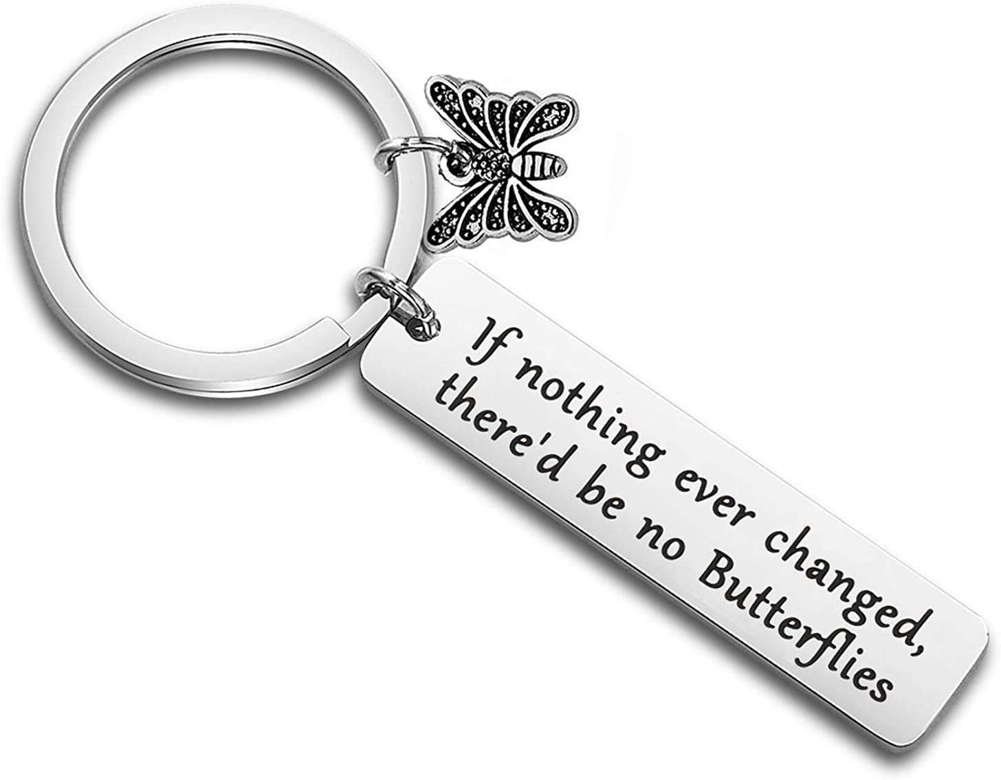 Bee Inspirational Quote Funny Work Hard Stay Bumble Keyring Key Chain
