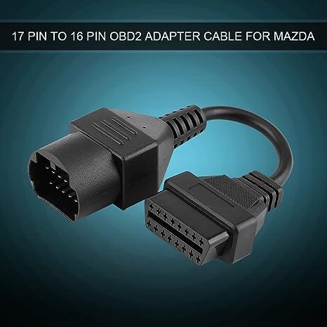 Adaptateur connecteur Diagnostic C/âble pour mazda 17/broches vers 16/pin oBD 2/Diagnostique C/âble