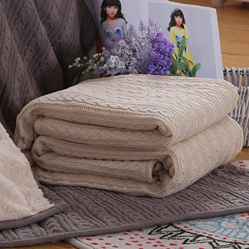CottonTex Cotton Knitted Blanket Sherpa product image