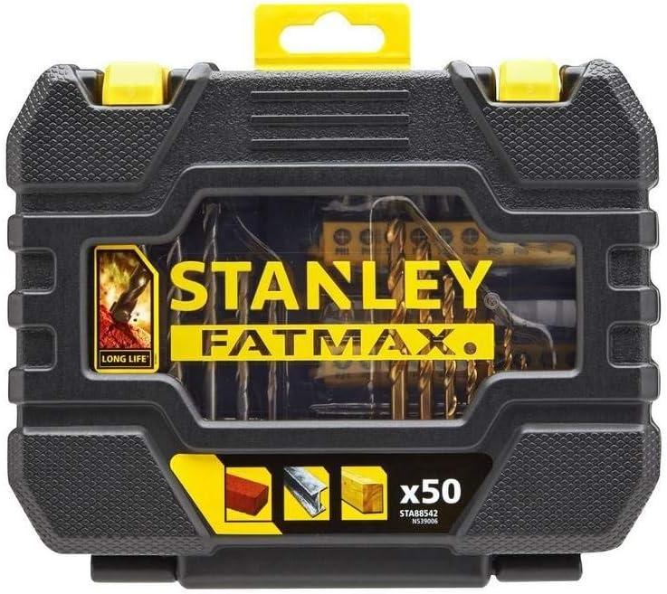 Stanley STA88542 Juego de 50 piezas para taladrar y atornilla AMARILLO