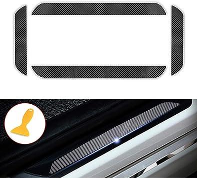 4D Carbon Fiber Door Sill Guard Protector Scuff Plate Cover for Z3 E36 Z4 E85 E86 E89 Z8 E52 4Pcs