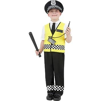 NET TOYS Traje de policía para niños Disfraz Agente Carnaval ...