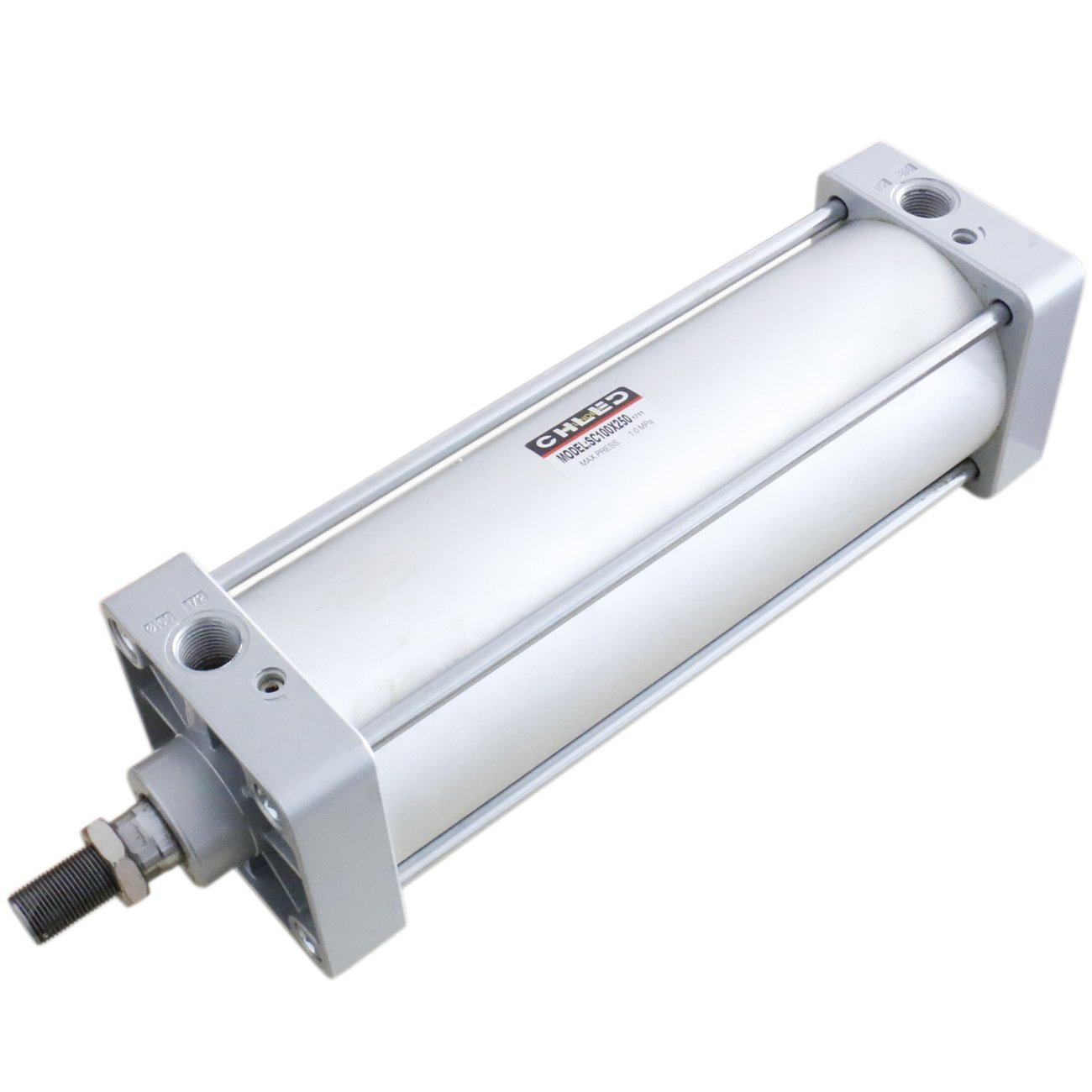 Baomain Pneumatic Air Cylinder SC 100 x 250 PT1/2; Bore: 4'', Stroke: 10''; Screwed Piston Rod Dual Action