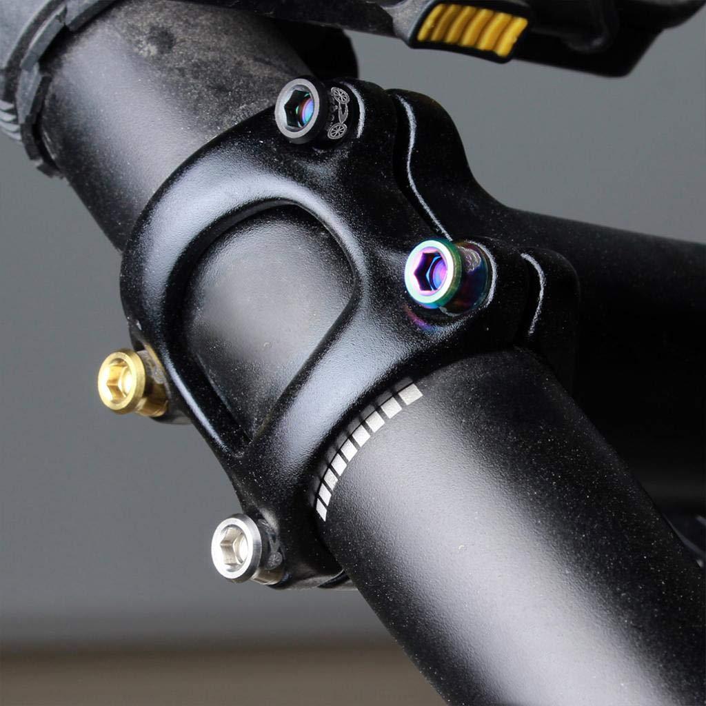 perfeclan 4pcs Titanlegierung Fixed Gear Rennrad Fahrrad Lenker Vorbau Schrauben Langlebig Und Langlebig