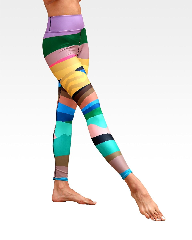 a6ff3024a09b3 Wear AM Designer Yoga Pants Ankle Length Leggings with Beautiful Original  Art Infinite Mountain Print at Amazon Women's Clothing store: