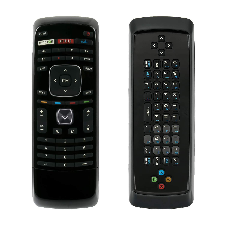 XRT301 3Dキーボードリモコン Netflix & Vudu キー搭載のVizio Smart TVに対応   B07R4ZFK33