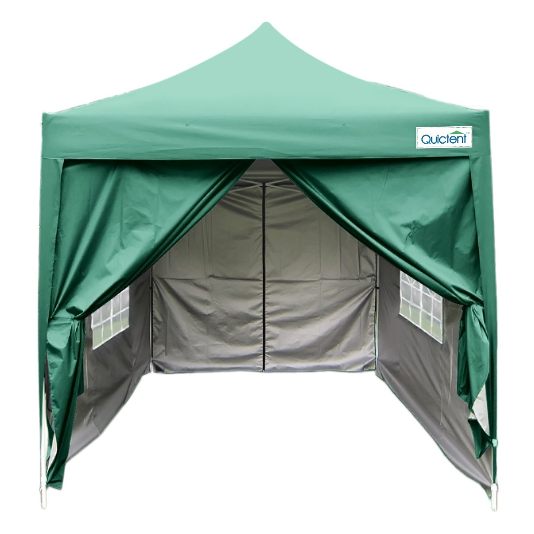 Amazon.com Quictent Silvox Waterproof 6.6x6.6u0027 EZ Pop Up Canopy Commercial Gazebo Party Tent Green Portable Pyramid-roofed Style Removable Sides With ...  sc 1 st  Amazon.com & Amazon.com: Quictent Silvox Waterproof 6.6x6.6u0027 EZ Pop Up Canopy ...