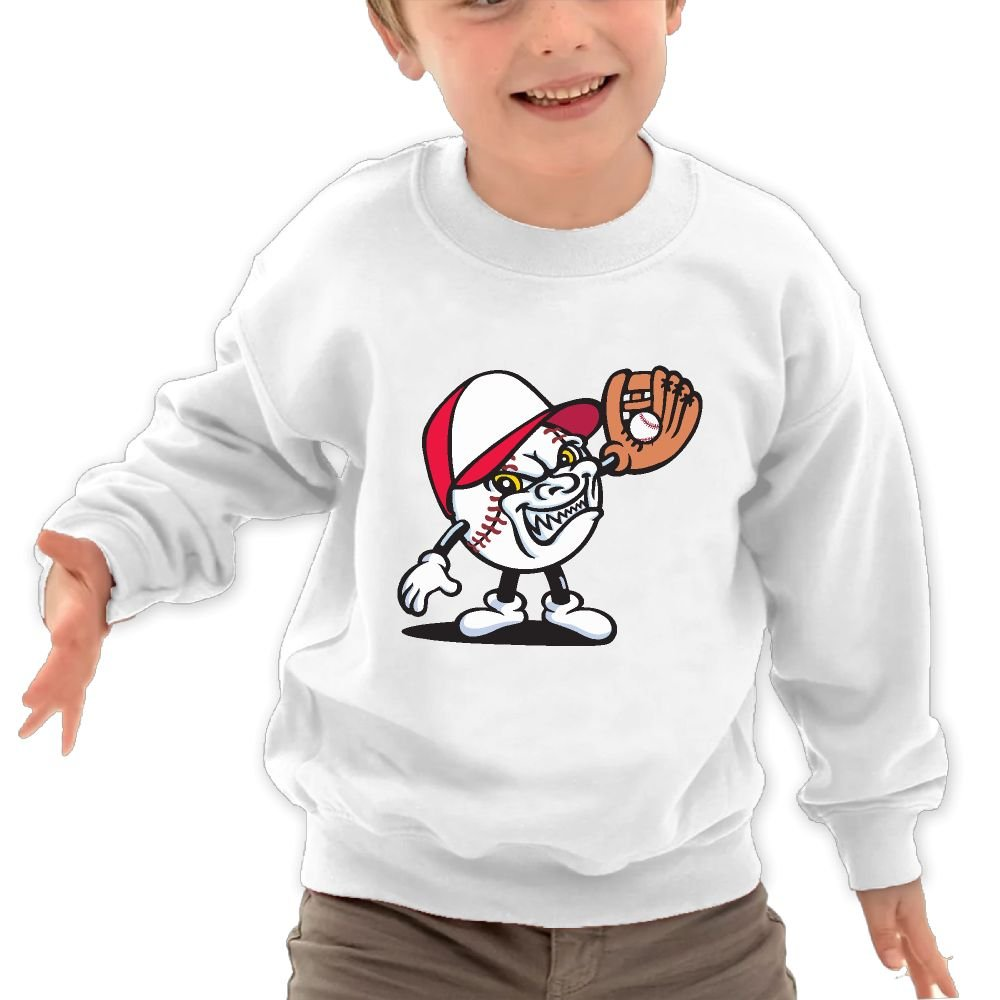 JasonMade Kids Angry Baseball Game Humor Crewneck Pullover Sweaters