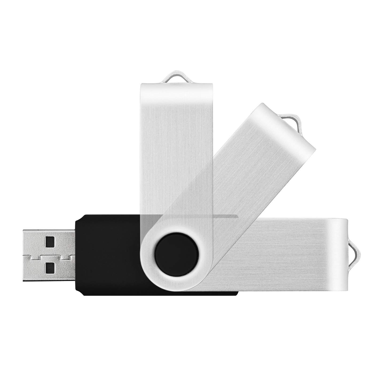 Kootion 50pcs 4 GB USB Flash Drive 4GB Flash Drives 50 Pack Thumb DriveSwivel Memory Stick Jump Drive, Black by KOOTION (Image #3)