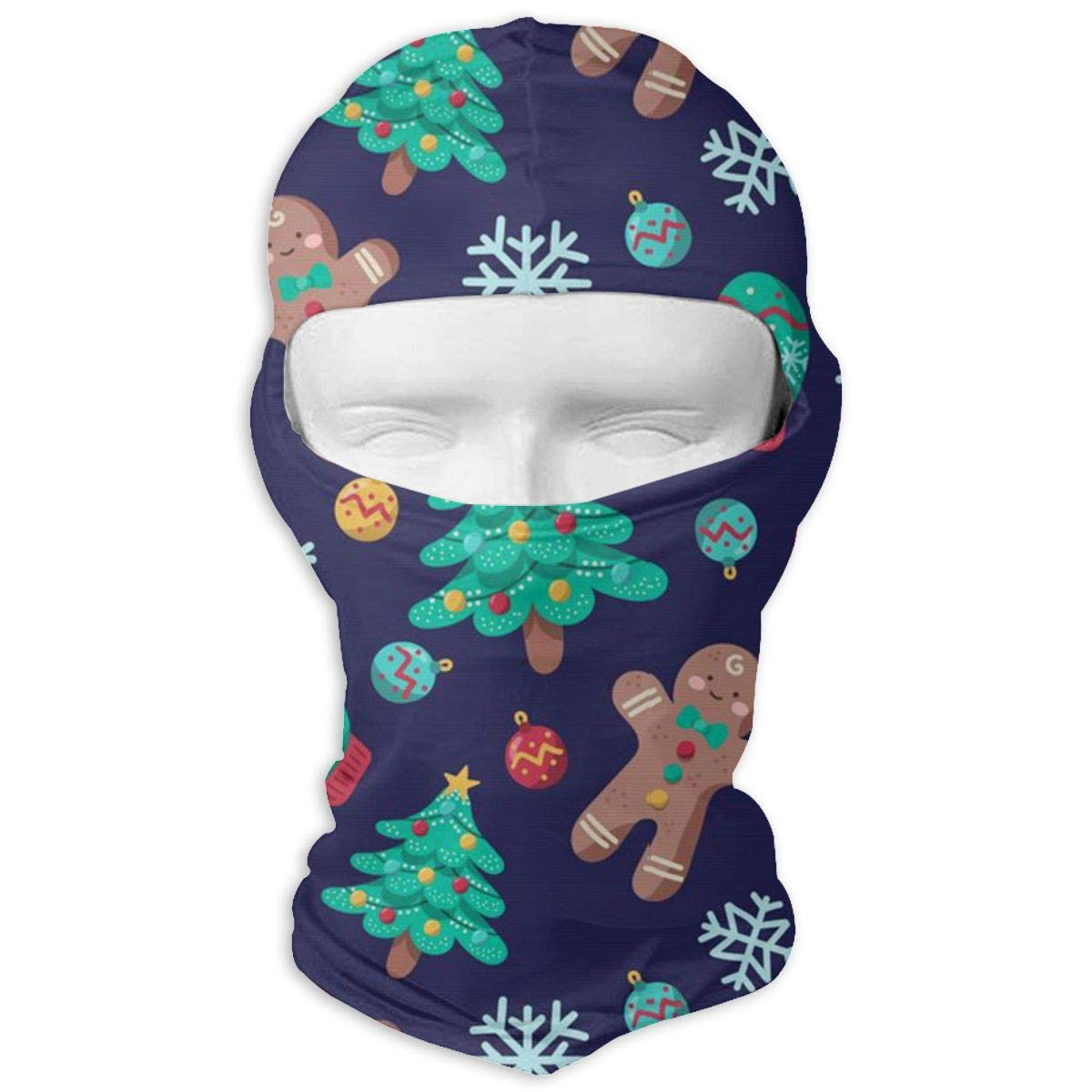 Gomop Ski Cap Cute Christmas Biscuit Full Face Mask Wind-Resistant Face Mask