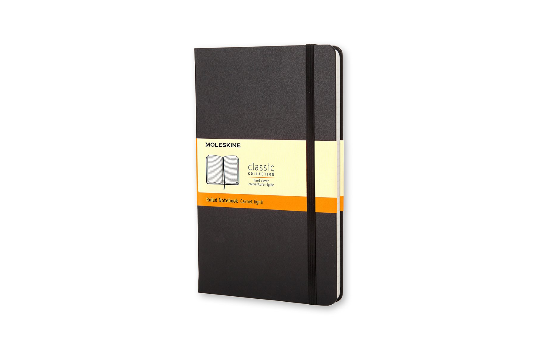 Moleskine Classic Hard Cover Notebook, Ruled, Pocket Size...
