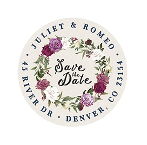amazon com floral save the date stickers personalized wedding