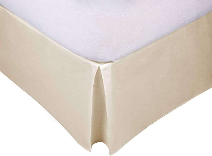 MB - Cubre Canapé Beige para somier - Cama 90x190-50% poliéster 50% algodón - Fácil de Colocar y Lavar
