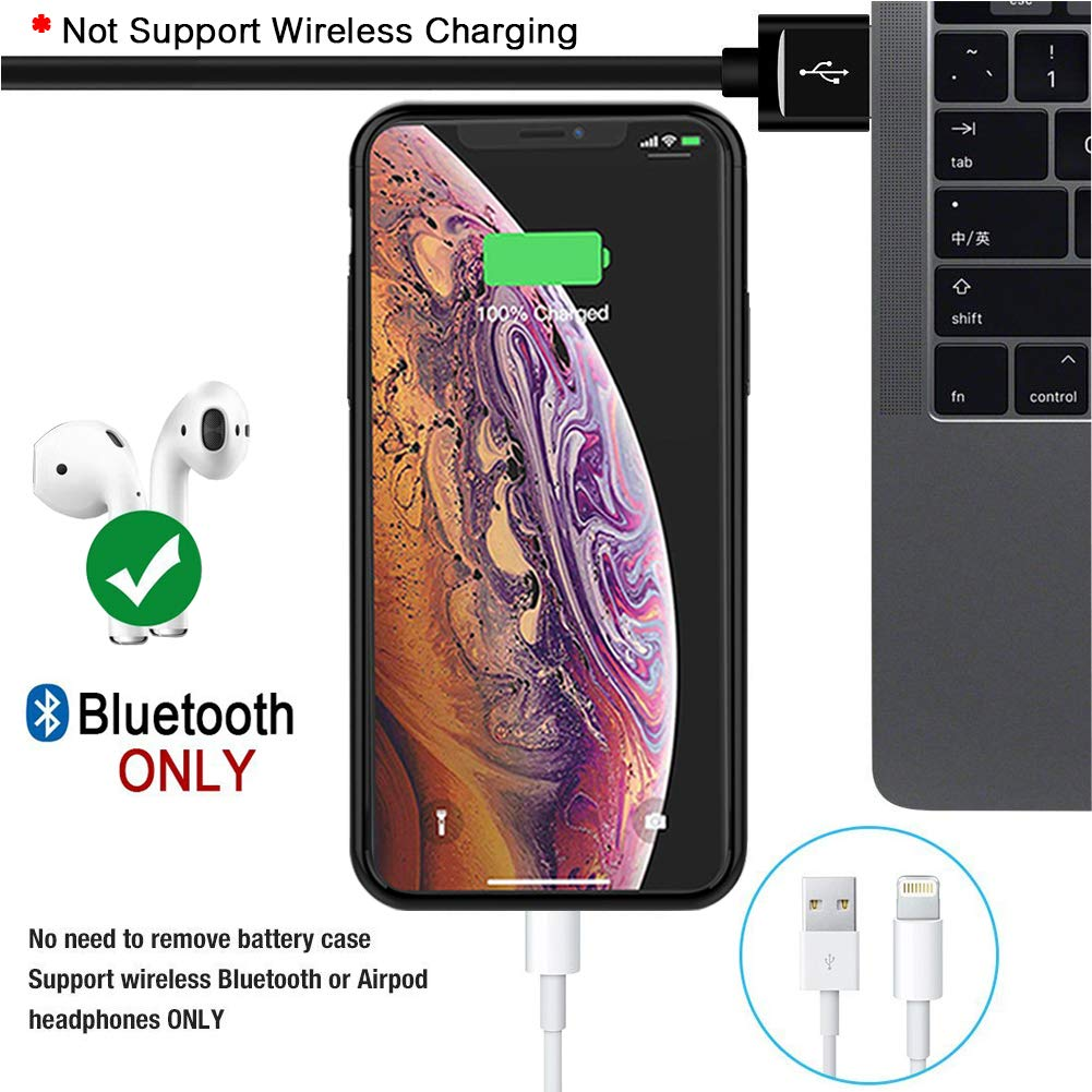 Battery Case for iPhone X//XS SNSOU 5200mAh Portable Protective Charging Case Extended Rechargeable Battery Pack Charger Case Compatible with iPhone X//XS//10 5.8 inch Blue
