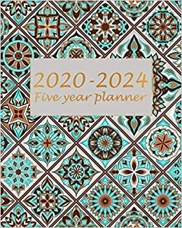 Five Year Planner 2020-2024: Blue Mandala, 60 Months ...