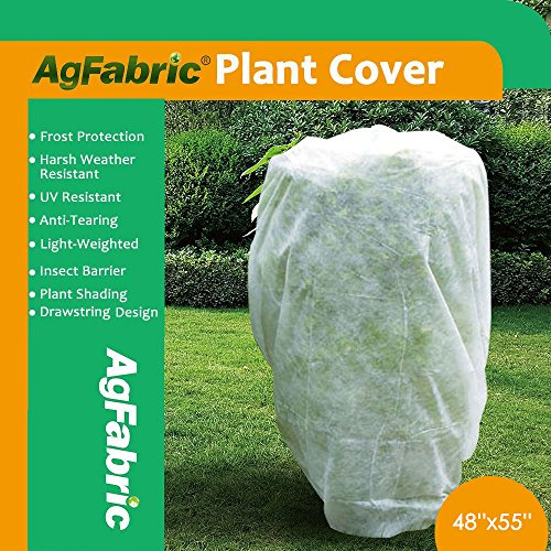 Agfabric Plant Cover Warm Worth Frost Blanket - 0.95 oz Fabric of 48'' Hx 55'' W Shrub Jacket, Rectangle Plant Cover for Season Extension&Frost Protection by Agfabric