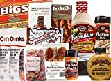 Pig Out Bacon Sampler Gift Pack (13pc Set) - Baconnaise, Mustard, Bacon Salt, Maple Bacon Lollipops, Bacon Fudge, Chocolate Covered Bacon, AND MORE ... Huge Bacon Goodies Gift Box!