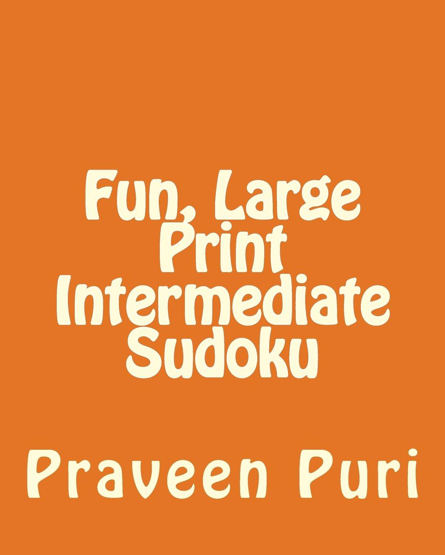 Fun, Large Print Intermediate Sudoku: Easy to Read, Large Grid Puzzles pdf epub
