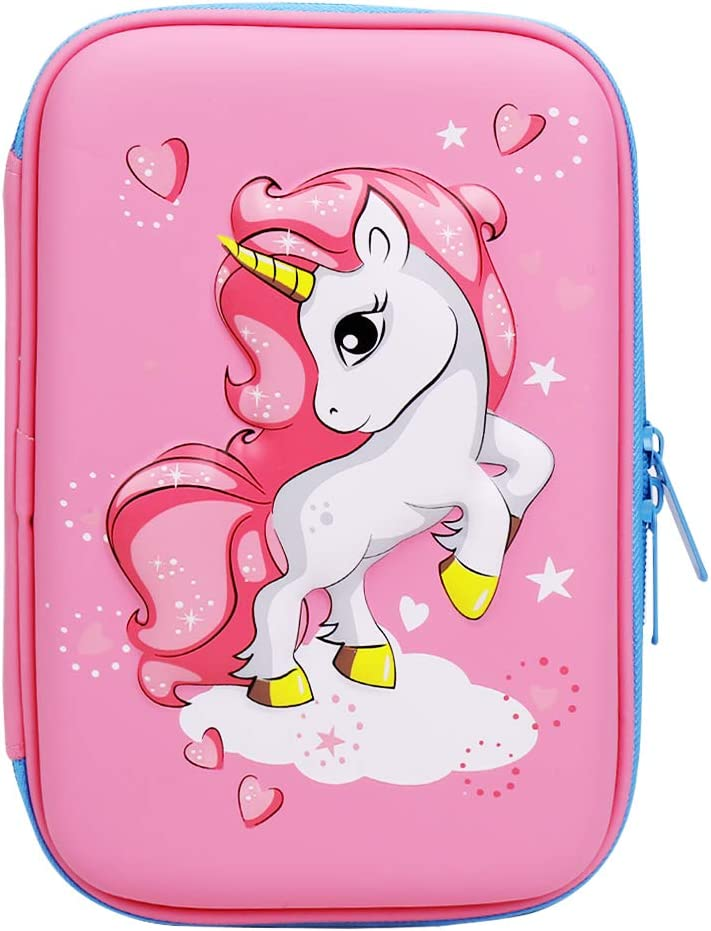 SKULL GIRL School Pencil Bag SEVEN THE DOUBLE Fuchsia Pink