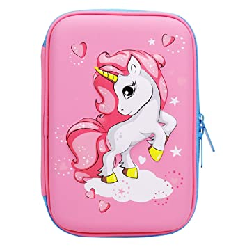 Amazon.com: Estuche para lápices con diseño de unicornio en ...