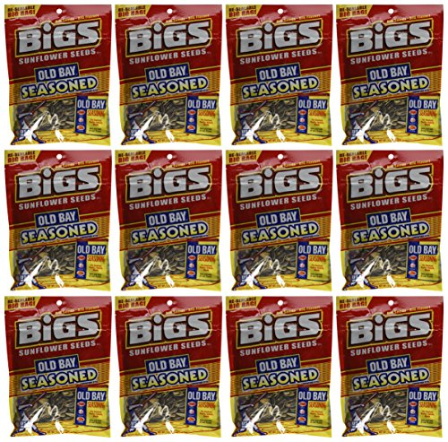 Bay Old Cakes Crab (Bigs Old Bay Catch of the Day Seasoned Sunflower Seeds, 5.35 Ounce - 12 per case)