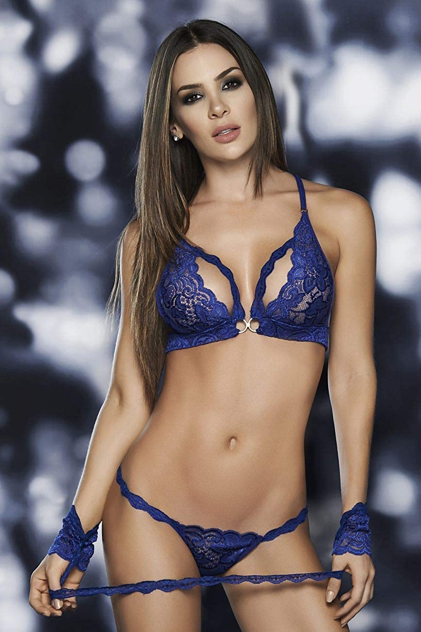 Mapalé Sexy 3/4 Piece Lingerie Set for Women Ropa Interior De Mujer Panty Sosten at Amazon Womens Clothing store: