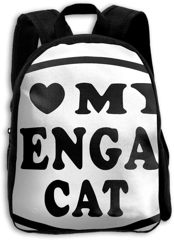 ADGBag Childrens I Love My Bengal Cat Backpack Schoolbag Shoulders Bag For Kids Mochila para niños: Amazon.es: Equipaje