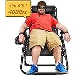 Ezcheer Oversized Zero Gravity Beach Chair