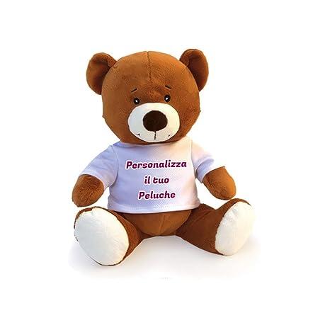 Pupazzo Peluche a Forma di Orso Pupazzetto Personalizzato con Foto Testo e  Immagini 4524cbb65f4