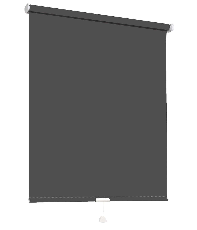 Springrollo Mittelzugrollo Schnapprollo Fenster Rollo Vorhang 16 Farben Breite 62-242 cm Höhe 160 und 230 cm blickdicht lichtdurchlässig Sonnenschutz Sichtschutz Blendschutz (182 x 160 cm Mocca) B079R9XPGF Seitenzug- & Springrollos