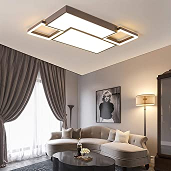 Bathroom Lights Ceiling Simple Modern Atmospheric Rectangular Living Room Lamp Home Hotel Hall Bedroom Dining Room Lamp 98w 1100 750mm Stepless Dimming Amazon Co Uk Lighting
