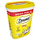 Dreamies Cat Treats, Mega Pack with Cheese, 2 Tubs (2 x 350 g)