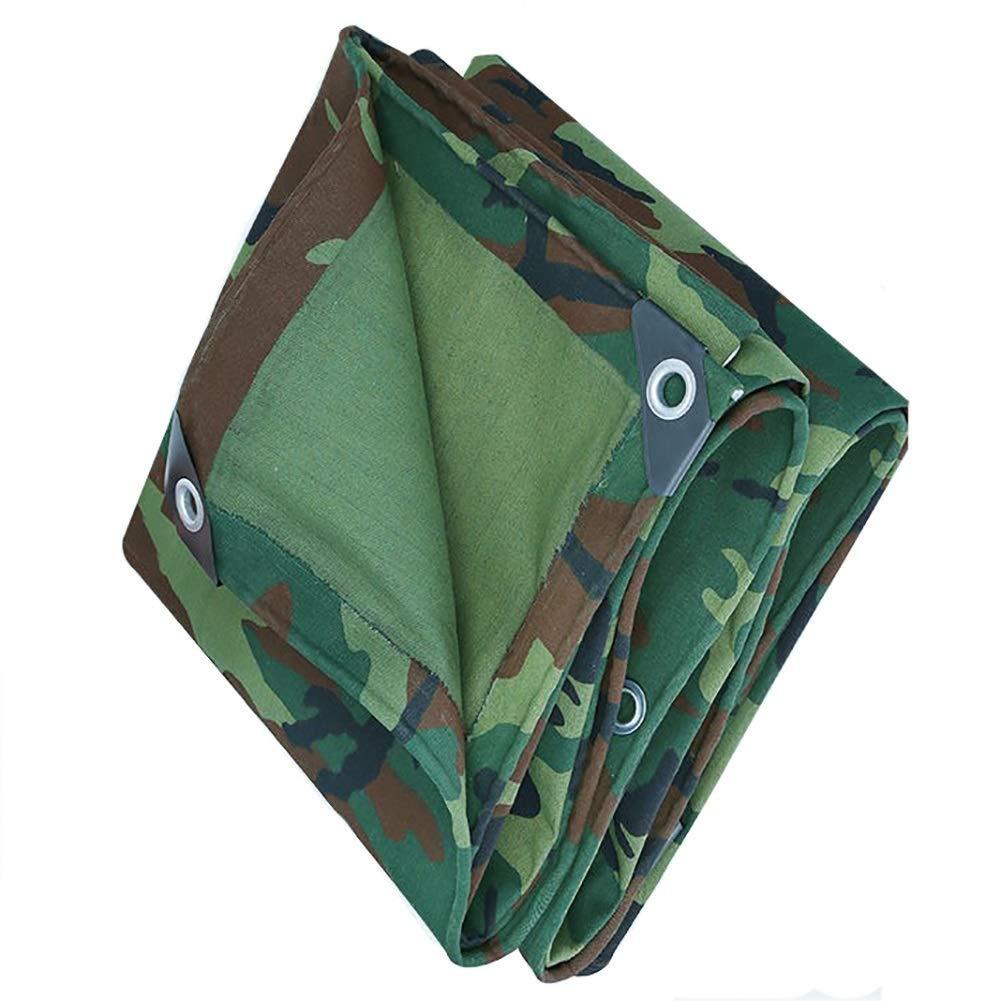 防水シートの雨よけの布の日焼け止め、屋外のレクリエーションのテントのための理想的な金属のアイレットが付いている防水シートの折り畳み式のキャンバス FENGMIMG 4x8M 緑 B07RTGXH38