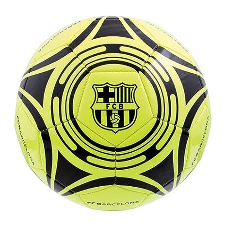 Barcelona amarillo fluo – Balón de fútbol, talla 5: Amazon.es ...