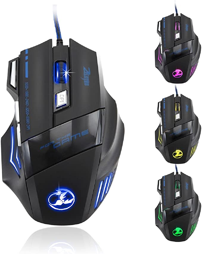 AcisuHu Hot Gaming Mouse 6D LED Optical USB Wired Mice 3200 DPI Pro Gaming Mouse for Laptop PC Game