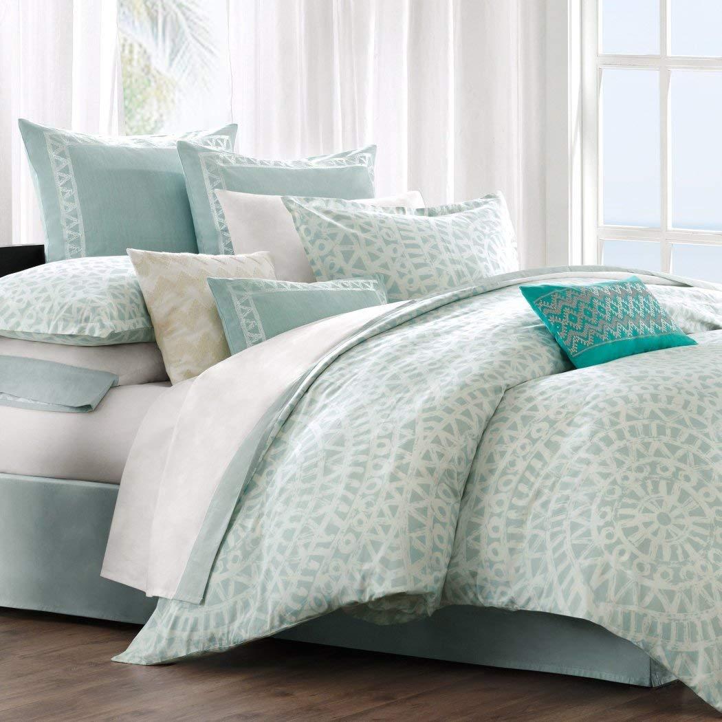 Full E/&E Co Echo Mykonos 3-Piece Comforter Set Sky//White Ltd DBA JLA Home EO10-518