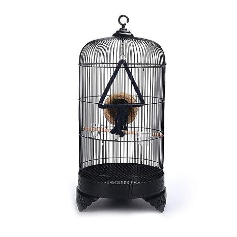 CJshop Pajarera Jaula de pájaros Redonda de Metal de Estilo ...